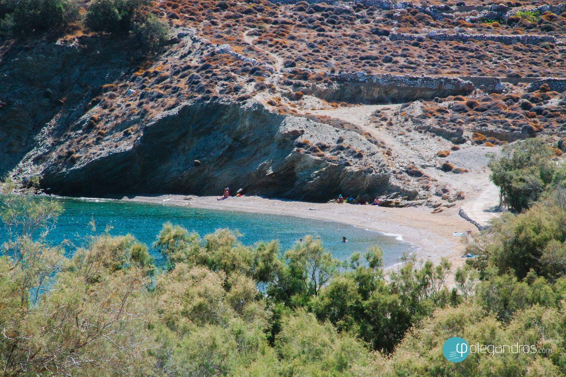 Livadi beach, Folegandros