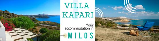 Villa Kapari, your accommodation in Milos!