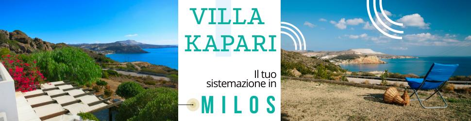 Villa Kapari, il tuo alloggio a Milos!